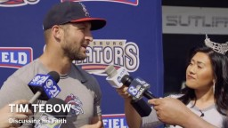 Tim Tebow on Tim Tebow : Faith, baseball, football and hecklers