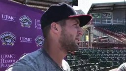 Tim Tebow discusses baseball, fans and making a difference