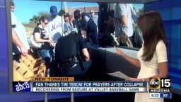 Baseball Fan Thankful for Tim Tebow's Prayers After Collapsing at Fall League Game
